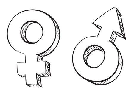 Male and female symbols Stock Vector - 7857685