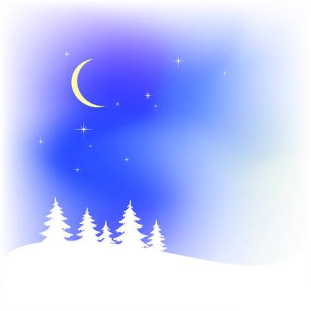 navidad: Snow christmas landscape Illustration