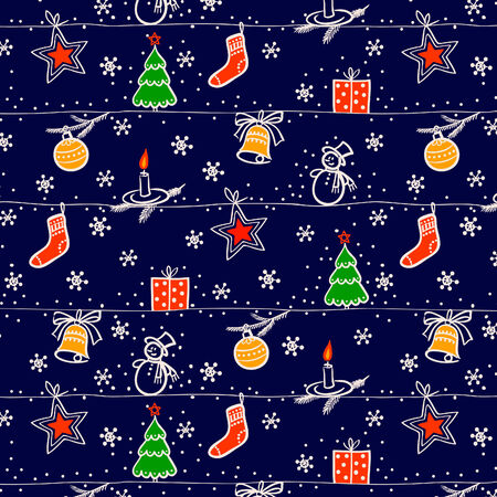 Christmas seamless   background Vector