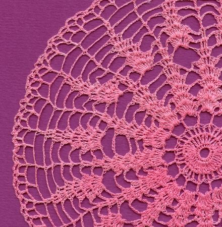 Knitted pink napkin photo