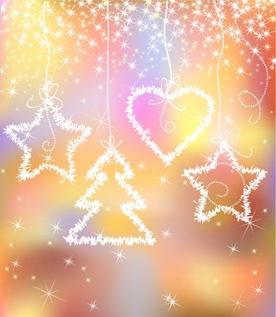 light abstract sparkle color christmas background Vector