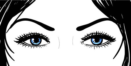 nice hair: beautiful girl blue eyes