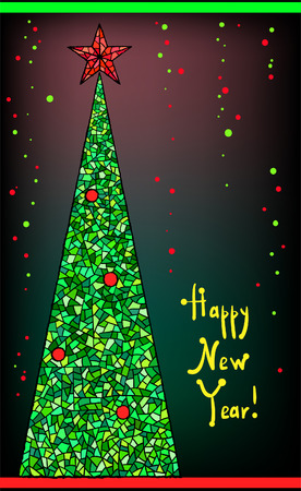 Christmas and new year tree image  Vector
