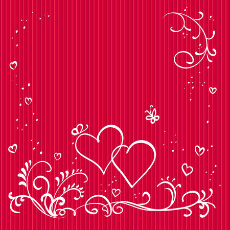 Red valentine background with hearts Stock Vector - 8569764