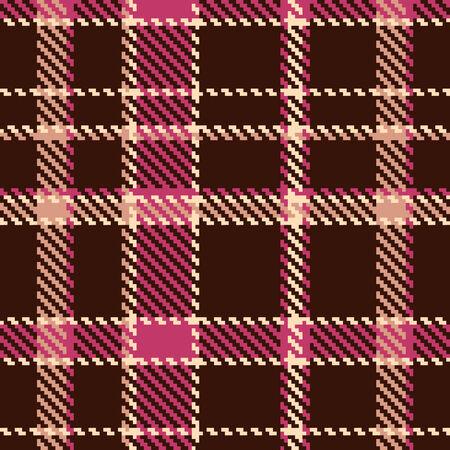 Seamless checkered vector pattern  Vector
