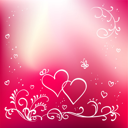 Abstract painted vector floral background, valentine's day elements for design Stock Vector - 8618164