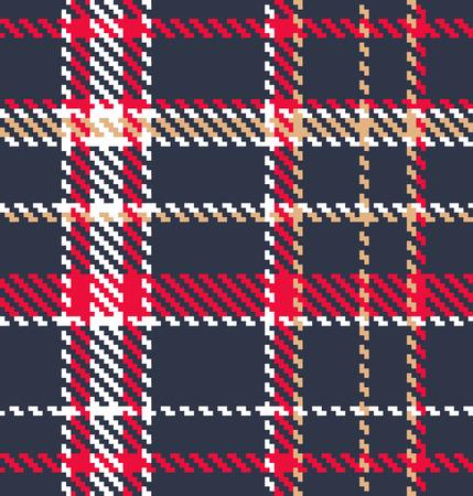 Classic tartan fabric Vector
