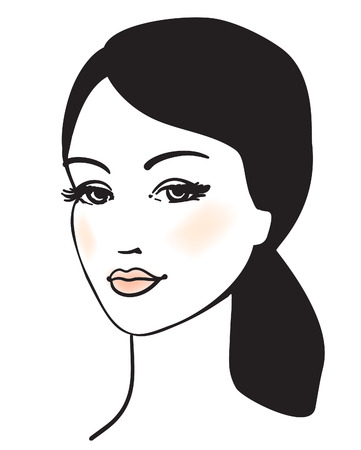 beauty girl face portrait  Vector