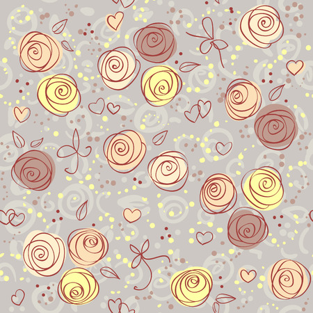 seamless floral light Vector background  Vector