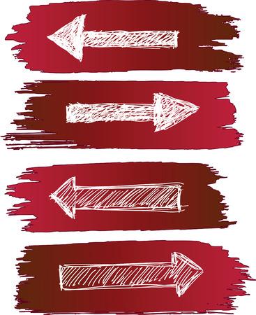 freccia destra: frecce impostare grunge Vettoriali