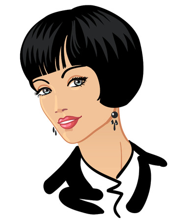 Businesswoman with beautiful haircut and smile Stock Vector - 8978190