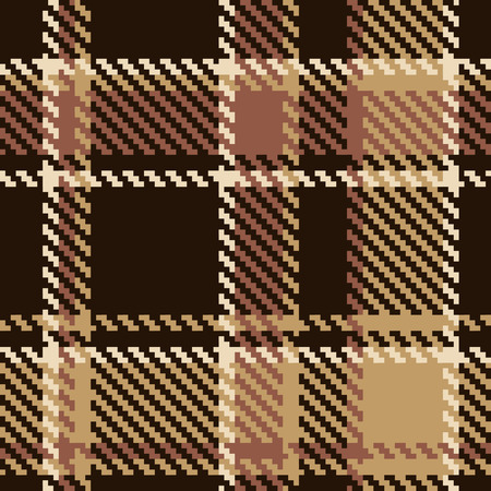 Seamless tartan brown abstract pattern Vector