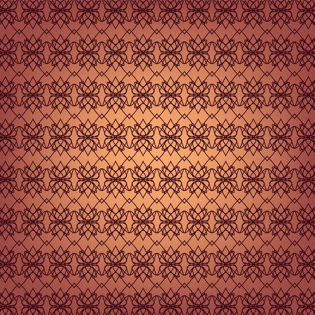 crocket: Seamless ornamental wallpaper pattern, illustration  Illustration