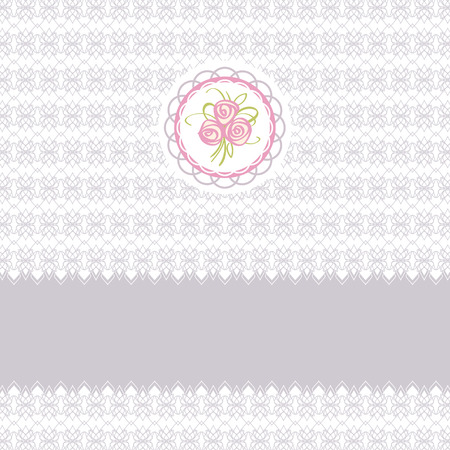 Cute greeting card with roses element design for easter or birthday Vector