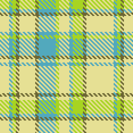 Seamless checkered green blue brown pattern  Vector