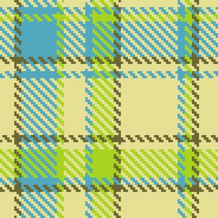 Modello senza soluzione di continuità a scacchi verde blu marrone vector