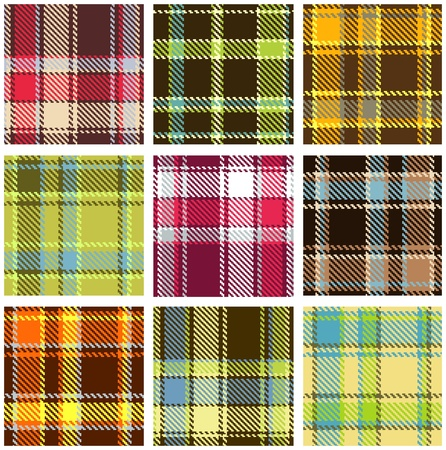 checkered pattern: set of seamless checkered vector pattern