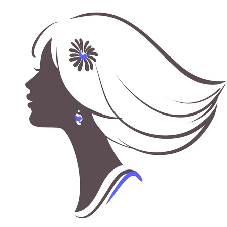 beautiful girl face  Stock Vector - 9233416