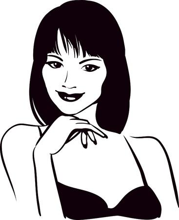 girl beauty face Stock Vector - 9352952