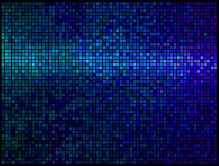 pixels: Multicolor abstract lights blue disco background. Square pixel mosaic vector Illustration