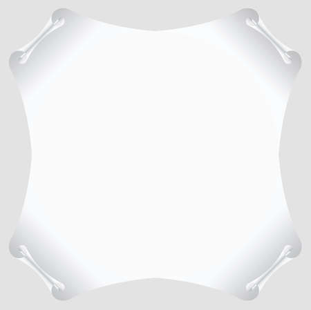 white scroll paper vector blank Vector