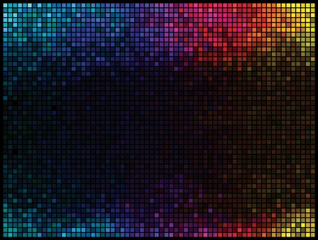 Multicolor abstract lights disco background Stock Vector - 9512425