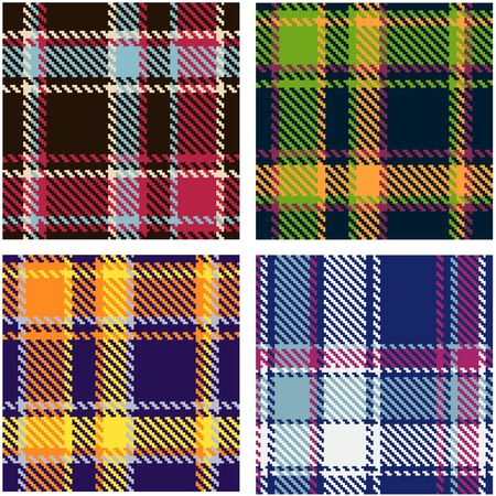 set of seamless checkered vector pattern  Vector