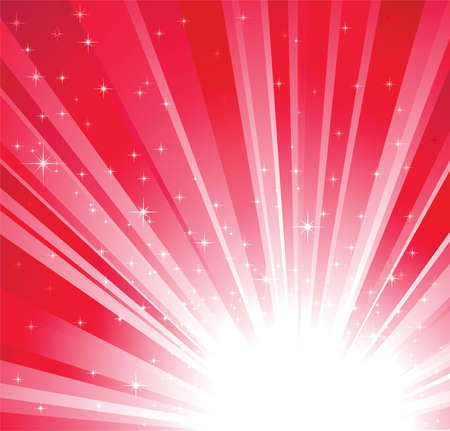 Red christmas, holidays background with light and stars Stock Vector - 9658916