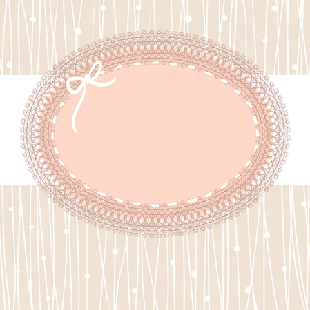 lace frame: vintage lace frame Illustration