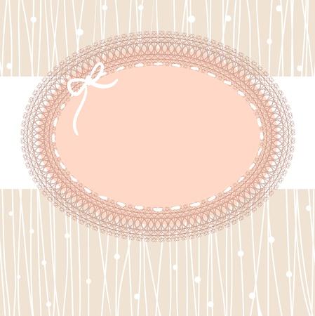 trims: vintage lace frame Illustration