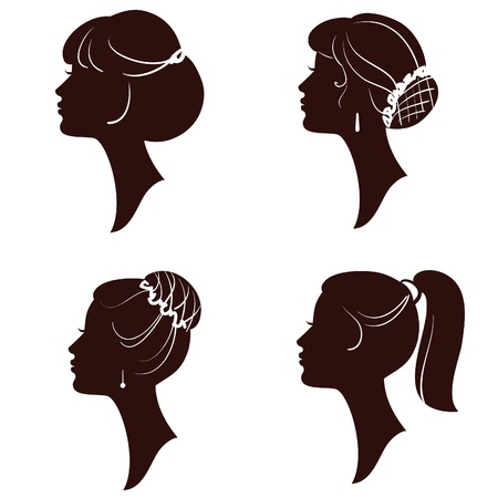 female silhouette: Hairstyles