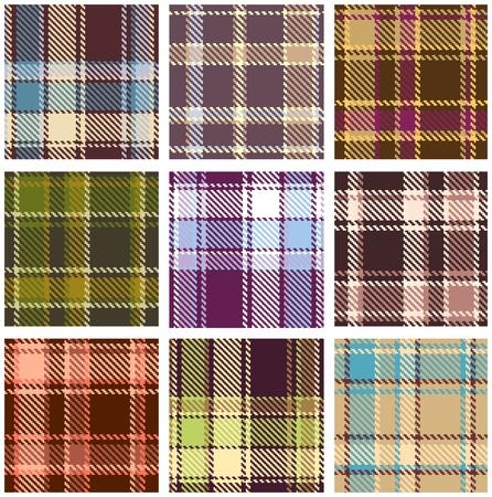 textura lana: conjunto de patr�n transparente vector a cuadros  Vectores