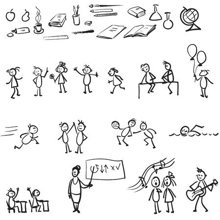 pupils: school set Illustration