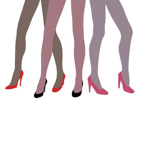 legs stockings: gambe di donna elegante sexy vector Vettoriali