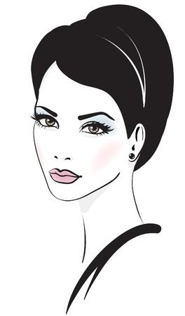 woman face vector illustration Illustration