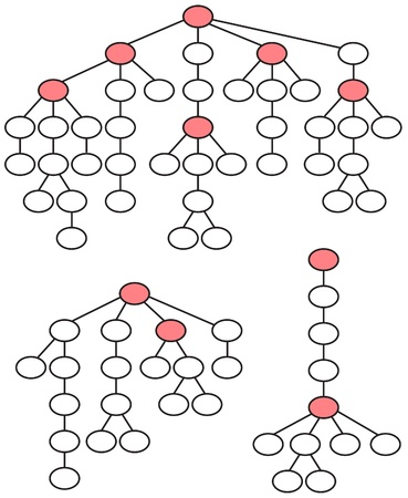 algorithm: set of abstract tree structures