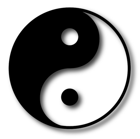 good karma: Yin Yang vector illustration