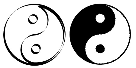 ying yan: Ying yang symbol of harmony and balance