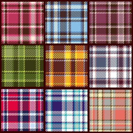 woven: set of seamless checkered pattern