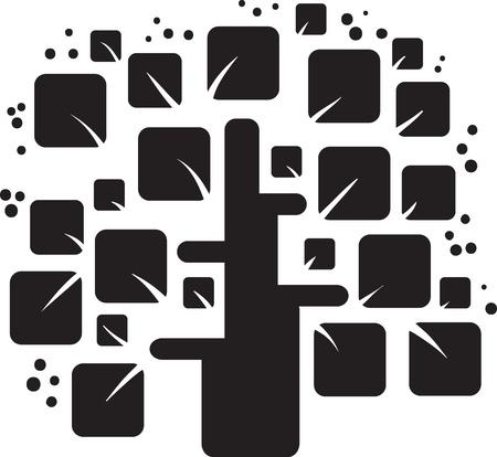 genealogical tree: stylized black tree