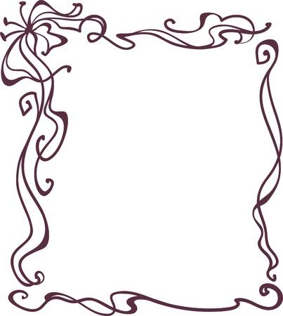 Art Nouveau frame,  vintage style