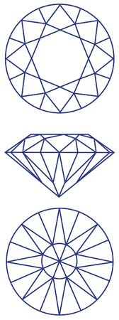 diamond shape: diamond graphic scheme Illustration