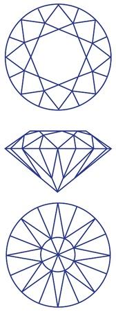 diamante: schema grafico diamante Vettoriali