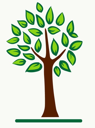 Abstract tree with green leafage Stock Vector - 10697301