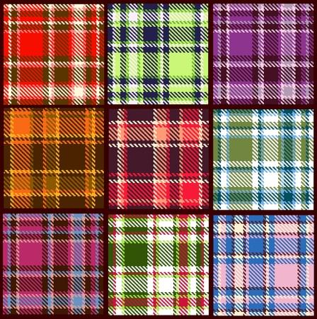 set of seamless checkered pattern