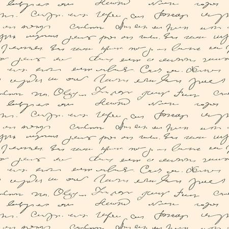Patrón transparente abstracta de texto escrito a mano