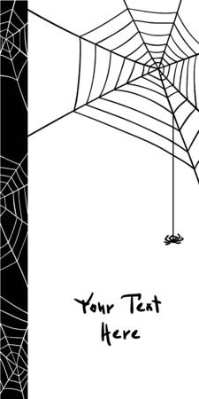 spiders web: spiders web elements, black and white design vector card