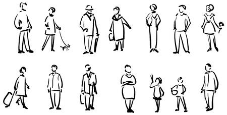 bocetos de personas: La gente de croquis