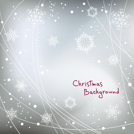 abstract Christmas vector background with snowflakes elements, eps 8 Vector