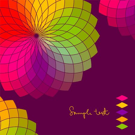 scroll wheel: Abstract background with color flower vector wheel  Illustration